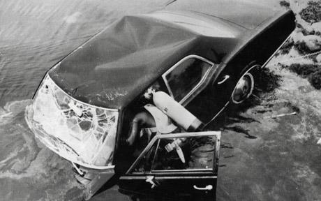 Ted Kennedy's car that he drowned Mary Jo Kopechne in... as he left her and went back to a party... and called his lawyer to figure out how best to proceed... and went to bed until the next day.