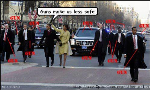 guns make us less safe obama hypocrisy