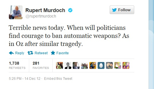 rupert murdoch twitter gun ban