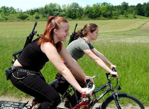 swiss girls with guns