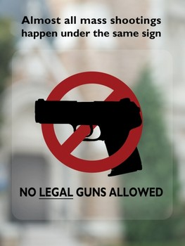 volk mass shooting no gun sign