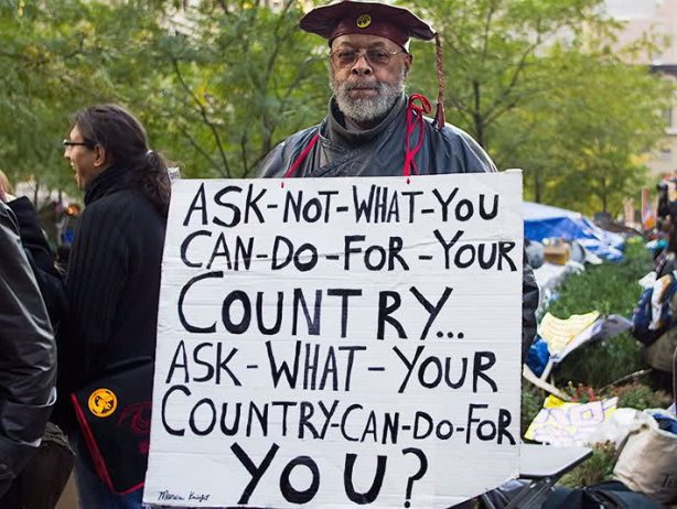 ask not what you can do for your country ask what your country can do for you occupy