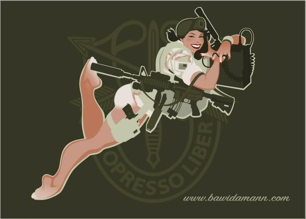 bawidamann green beret girl