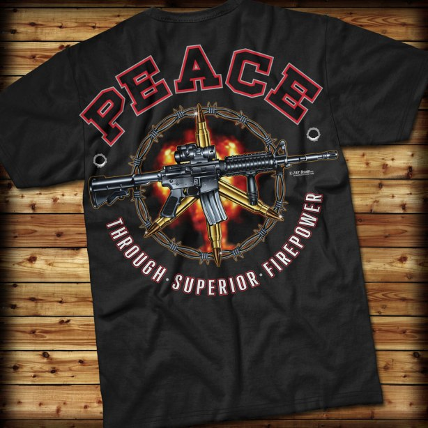 black peace shirt