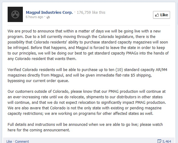 magpul colorado update 130227