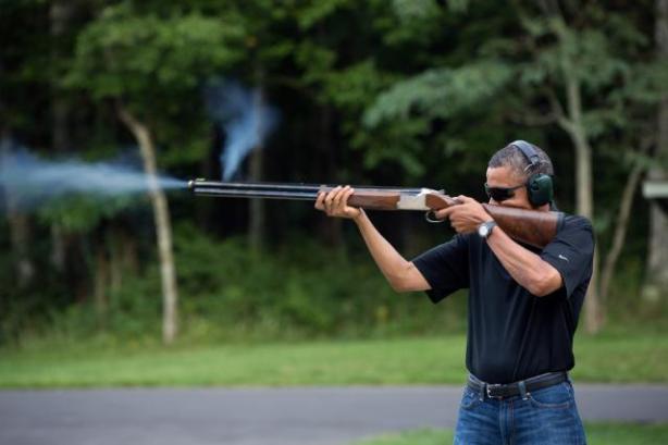 obama shotgun picture