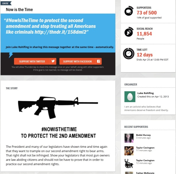 now is the time pro second amendment thunderclap