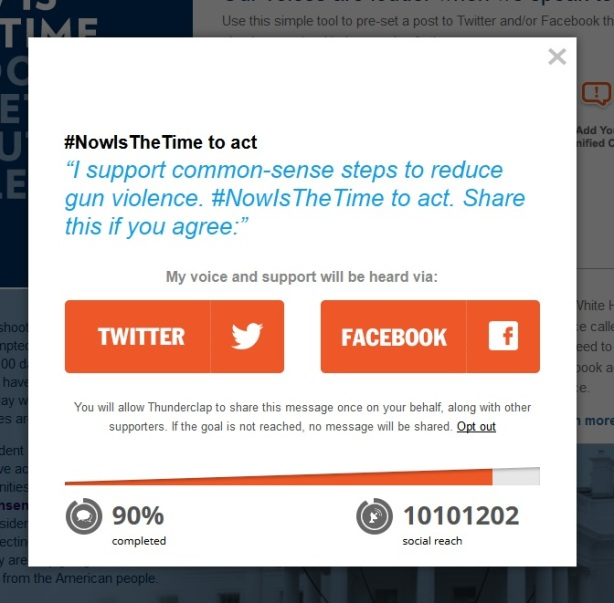 now is the time white house antigun twitterbomb 2
