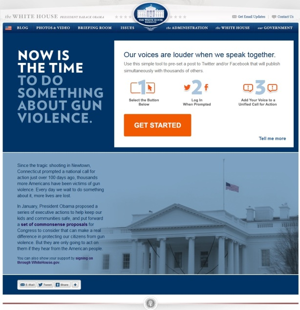now is the time white house antigun twitterbomb