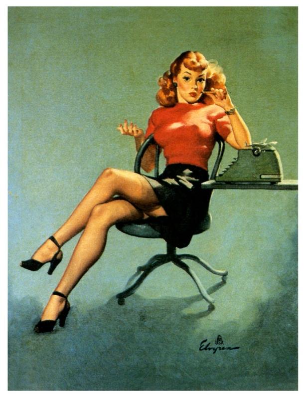 gil elvgren secretary pinup