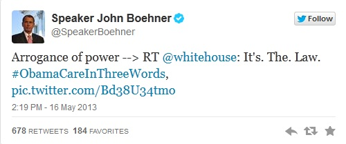 obamacare in 3 words boehner