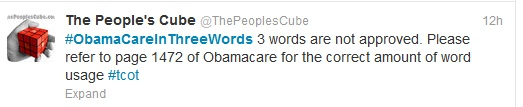 obamacare in 3 words peoples cube