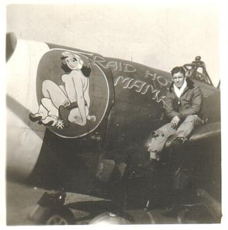 P47 Raid Hot Mama nose art