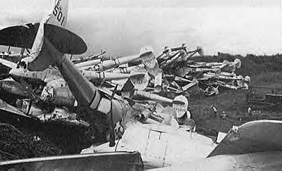 destroyed p38s after ww2