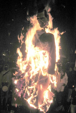bush in effigy nov 3 2004 zombietime san fran election rally