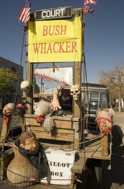 BushWhackerElMarco bush guillotine obama campaign rally denver oct 26 2008