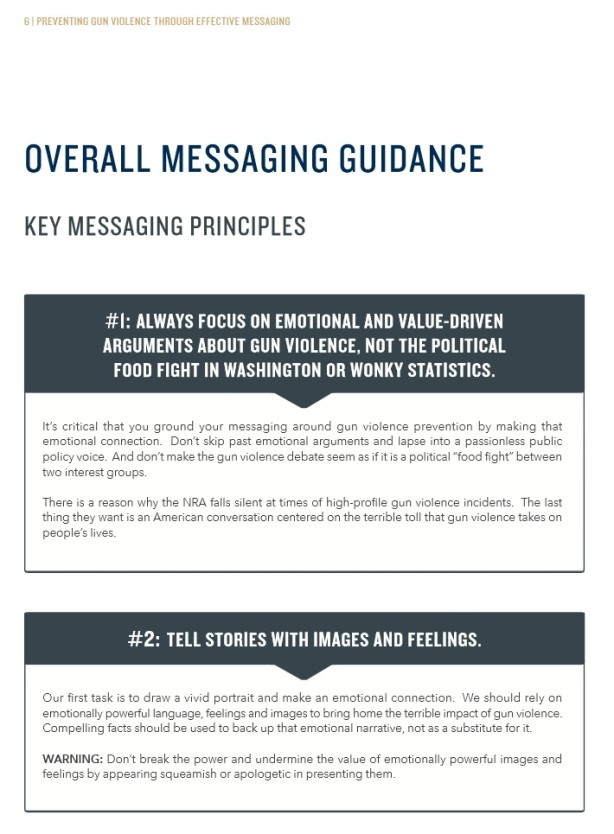 gun violence messaging propaganda booklet pg10