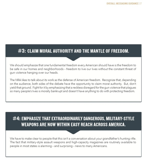 gun violence messaging propaganda booklet pg11