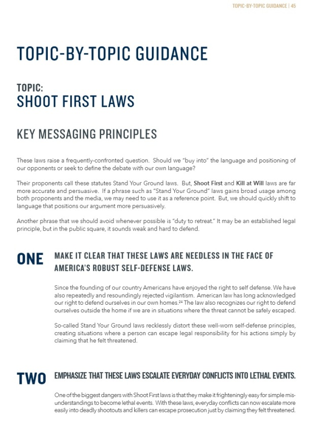 gun violence messaging propaganda booklet pg49