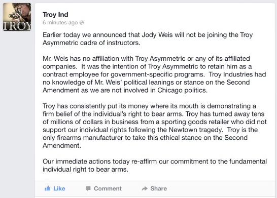 troy statement chicago politics