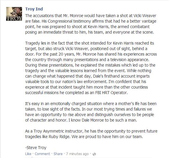 troy statement monroe staying