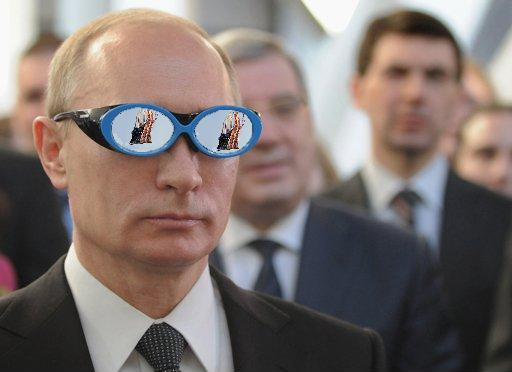 putin glasses flag