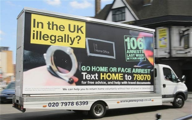 illegal immigration britain van