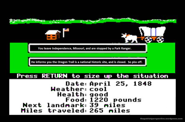 oregon trail closed
