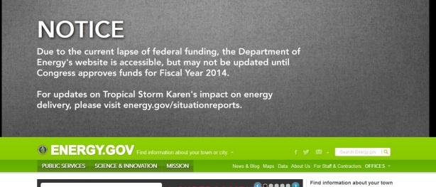 shutdown doe message