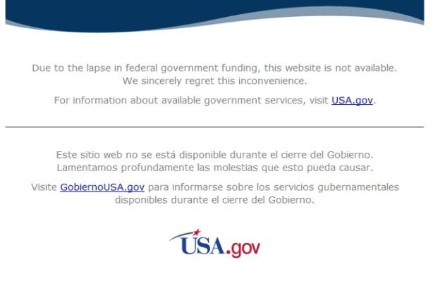 shutdown nasa message