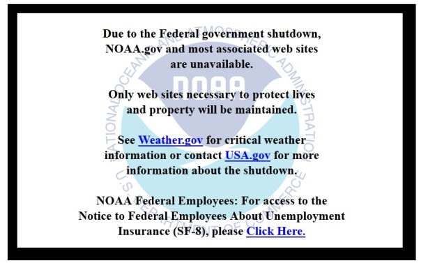 shutdown noaa message