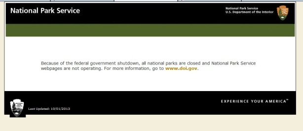 shutdown nps message