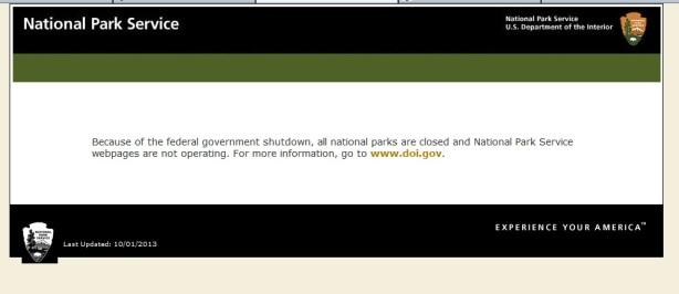 shutdown nps message
