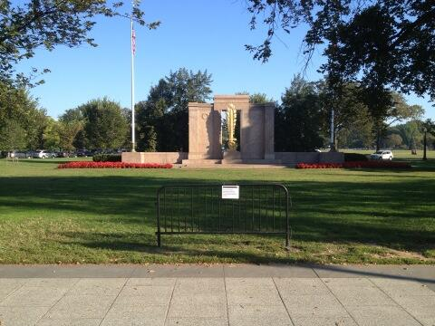 ww1 memorial closed