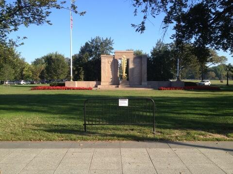 ww1 memorial closed