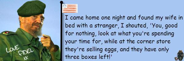 fidel eggs joke
