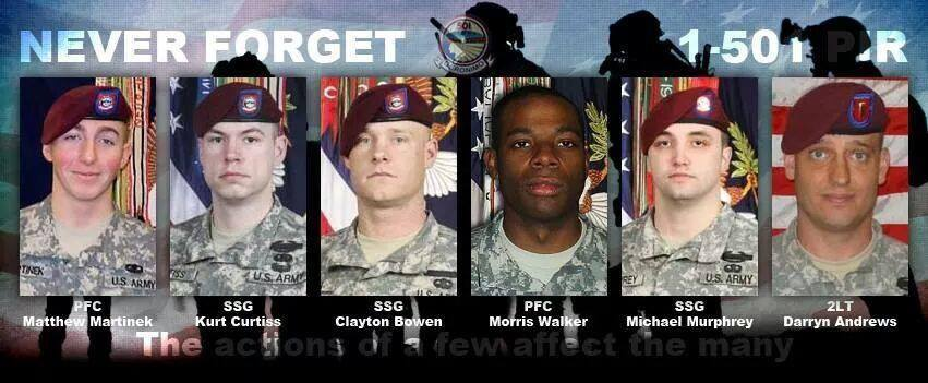 afghanistan 6 lost due to bergdahl