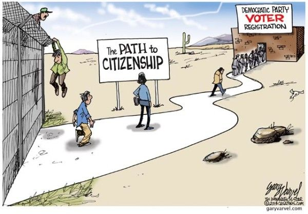 illegal aliens democrat registration
