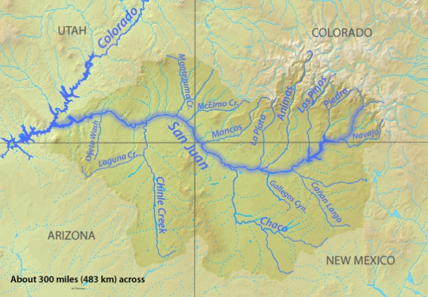 san juan river map w animas
