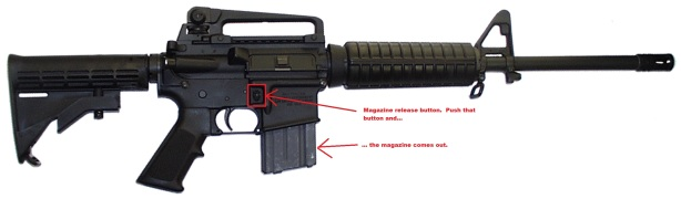 ar mag release button