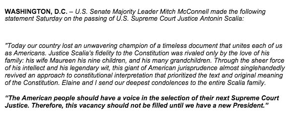 mcconnell senate scalia announcement 160213